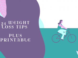 24 weight loss tips with printable